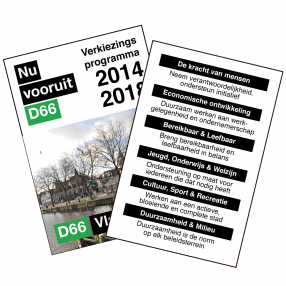 d66 vlaardingen programma 2014-2018 cover met 6 speerpunten v2